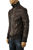 EMPORIO ARMANI Men's Artificial Leather Warm Winter Jacket #107