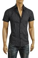 EMPORIO ARMANI Men's Short Sleeve Shirt #235