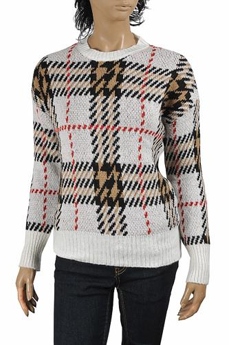 BURBERRY women's round neck knitted sweater 270