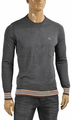 DF NEW STYLE, BURBERRY men's round neck sweater in gray color 26