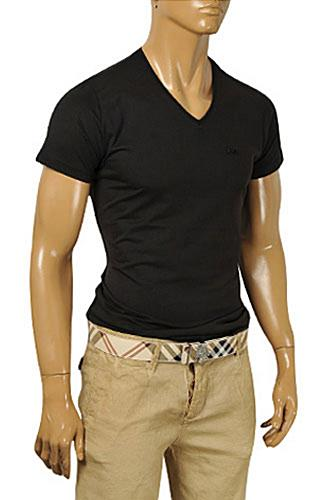 BURBERRY Men's V-Neck Short Sleeve Tee #201