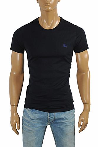 BURBERRY Men's Cotton T-Shirt In Navy Blue #235