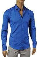 DOLCE & GABBANA Men's Dress Shirt In Royal Blue #446