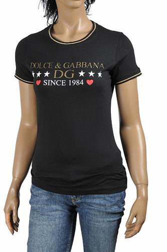 DOLCE & GABBANA women's cotton t-shirt with front print logo 262
