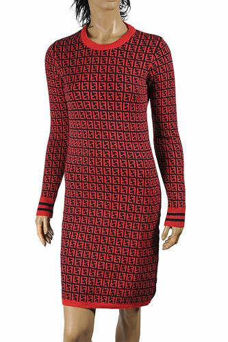 FENDI soft knitted long sleeve dress 34