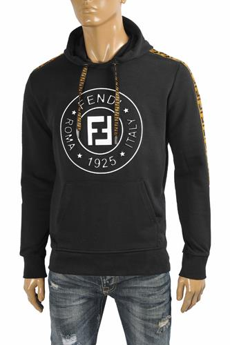 FENDI men's cotton hoodie with print logo 38