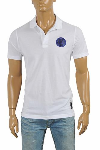 FENDI men's cotton polo shirt in white 30
