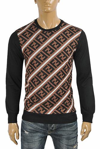 FENDI men's round neck FF print sweater 31