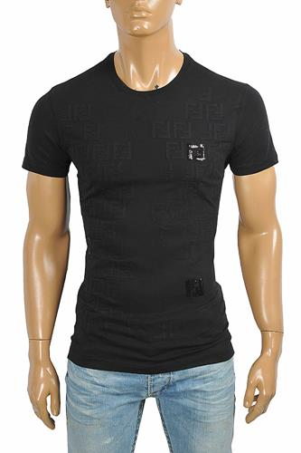 DF NEW STYLE, FENDI men's cotton t-shirt with front print 41