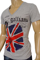 JOHN GALLIANO Mens V-Neck Short Sleeve Tee #25