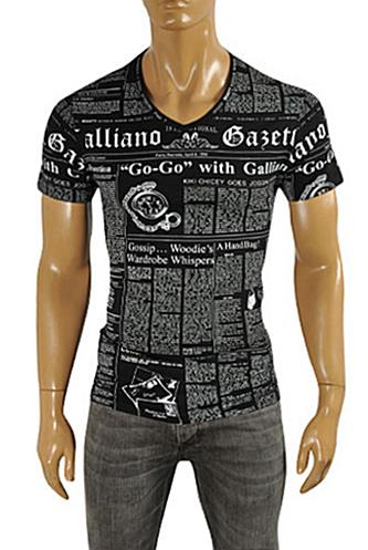JOHN GALLIANO Men's V-Neck Short Sleeve Tee #43