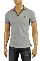GUCCI Men's Cotton Polo Shirt In Gray #321