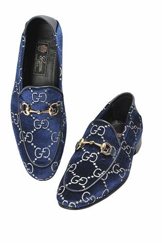 GUCCI Men's GG velvet Horsebit loafer Shoes 297