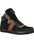 GUCCI Men's High Leather Sneaker Shoes #249