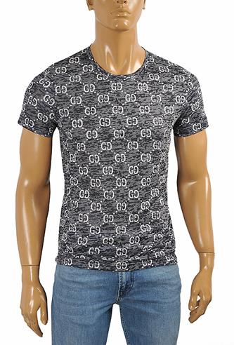 GUCCI cotton T-shirt with GG print 254