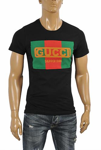 GUCCI cotton T-shirt with front print 255