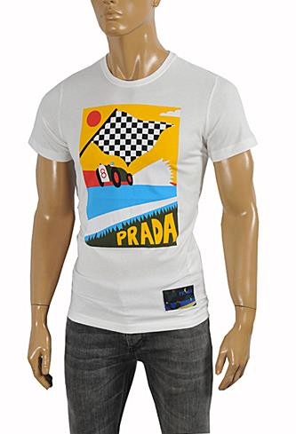 PRADA Men's cotton T-shirt with print #101